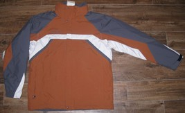 New Columbia Parka Coat Jacket Rust L Large Lg Gorge Trail Nwt $120 Grey Orange - $74.79