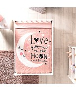 Baby Girl Bedding Set Moon Pink Nursery for Baby Shower Material: 100% C... - $98.95