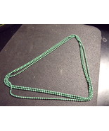 Enameled Green Flapper Style Beads - $50.00