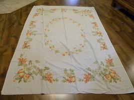 Vintage stamped fruit design tablecloth - $5.00