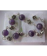 Amethyst Tibetan Silver bracelet - $17.99
