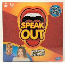 Hasbro Speak Out The Ridiculous Challenge Game with 10 Mouthpieces - $16.28