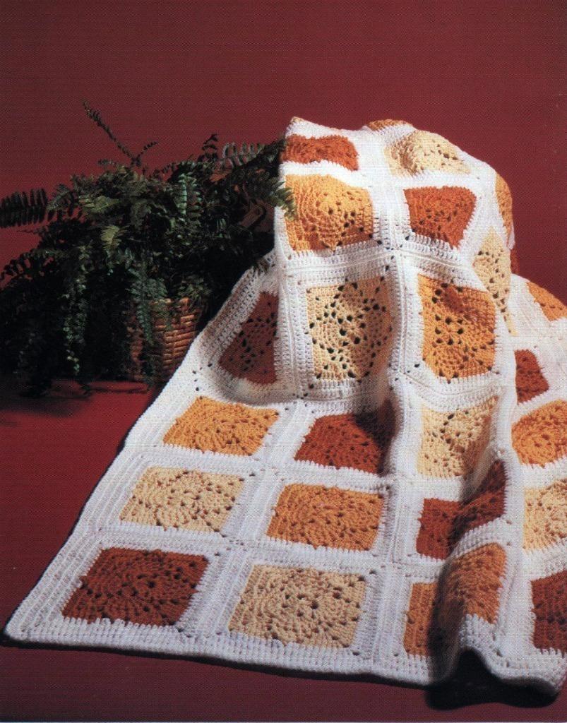 Crochet Pattern Leaflet PINEAPPLE SAMPLER 8 Gorgeous Afghans