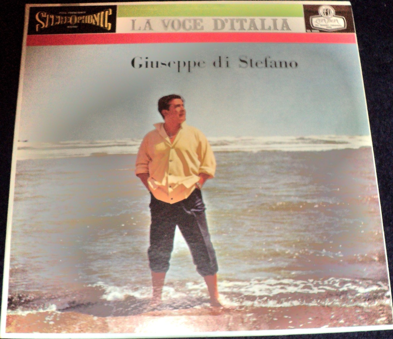 GIUSEPPE DI STEFANO: LA VOCE D'ITALIA LP WITH ORCHESTRA CONDUCTED BY DINO OLIVIE