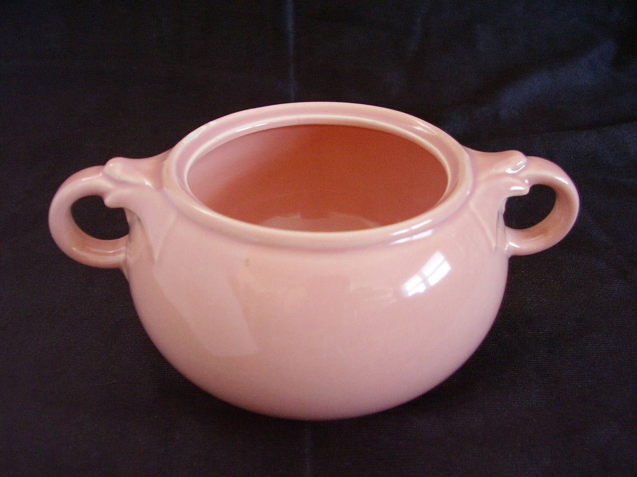 Lu Ray Pastel Pink Sugar Bowl No Lid Made in USA