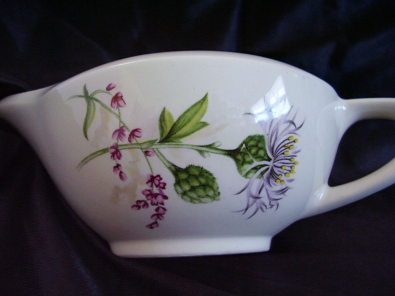 American Limoges Glamour Thistle Gravy Sauce Boat
