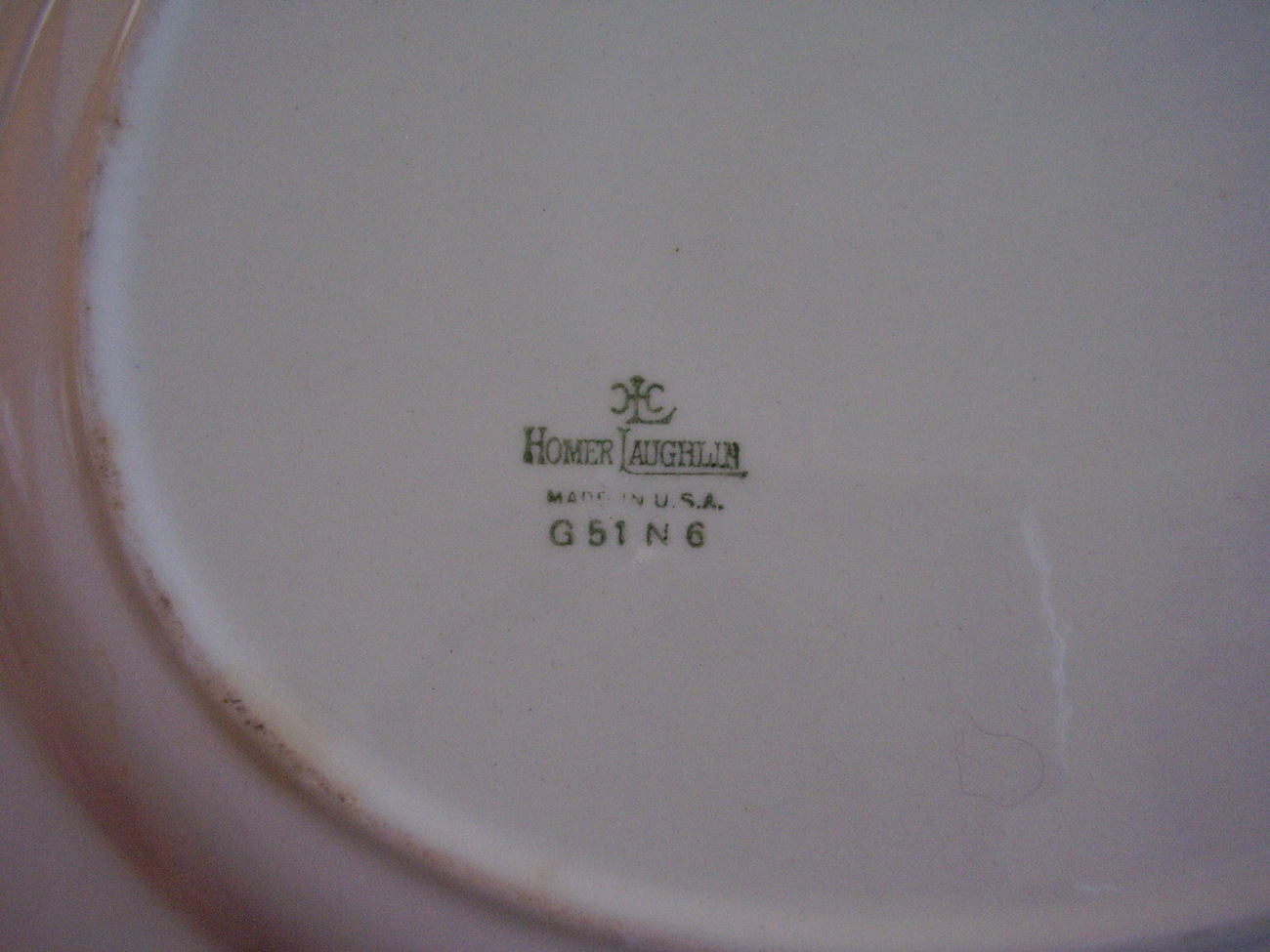Homer Laughlin Liberty Shape Windsor White Rose Gold Trim Platter
