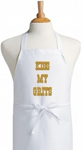 Kiss My Grits Funny Cooking Apron, Novelty Kitc... - $9.85