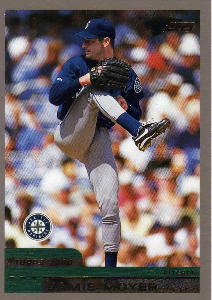 2000 Topps Jamie Moyer Seattle Mariners Phillies Orioles