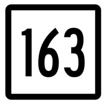 Connecticut State Highway 163 Sticker Decal R5174 Highway Route Sign - $1.45+