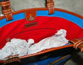 Dooney & Bourke Pebble Leather Convertible Shopper ICE BLUE image 8