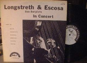 Longstreth & Escosa - duo harpists In Concert - Carriage Records SCRLP 1960
