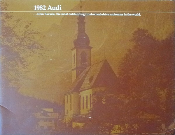 1982 AUDI full line DELUXE brochure catalog 4000 5000 Coupe