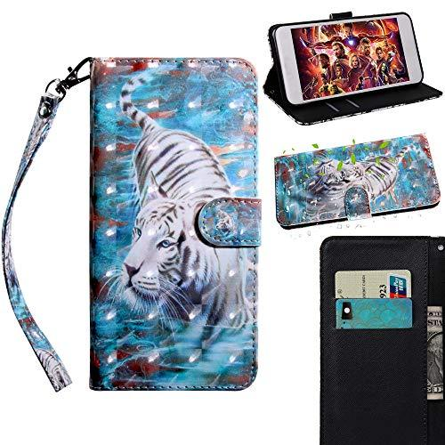 XYX Wallet Case for Motorola Moto G7 Power/Moto G7 Supra,[Wrist Strap] Painted D