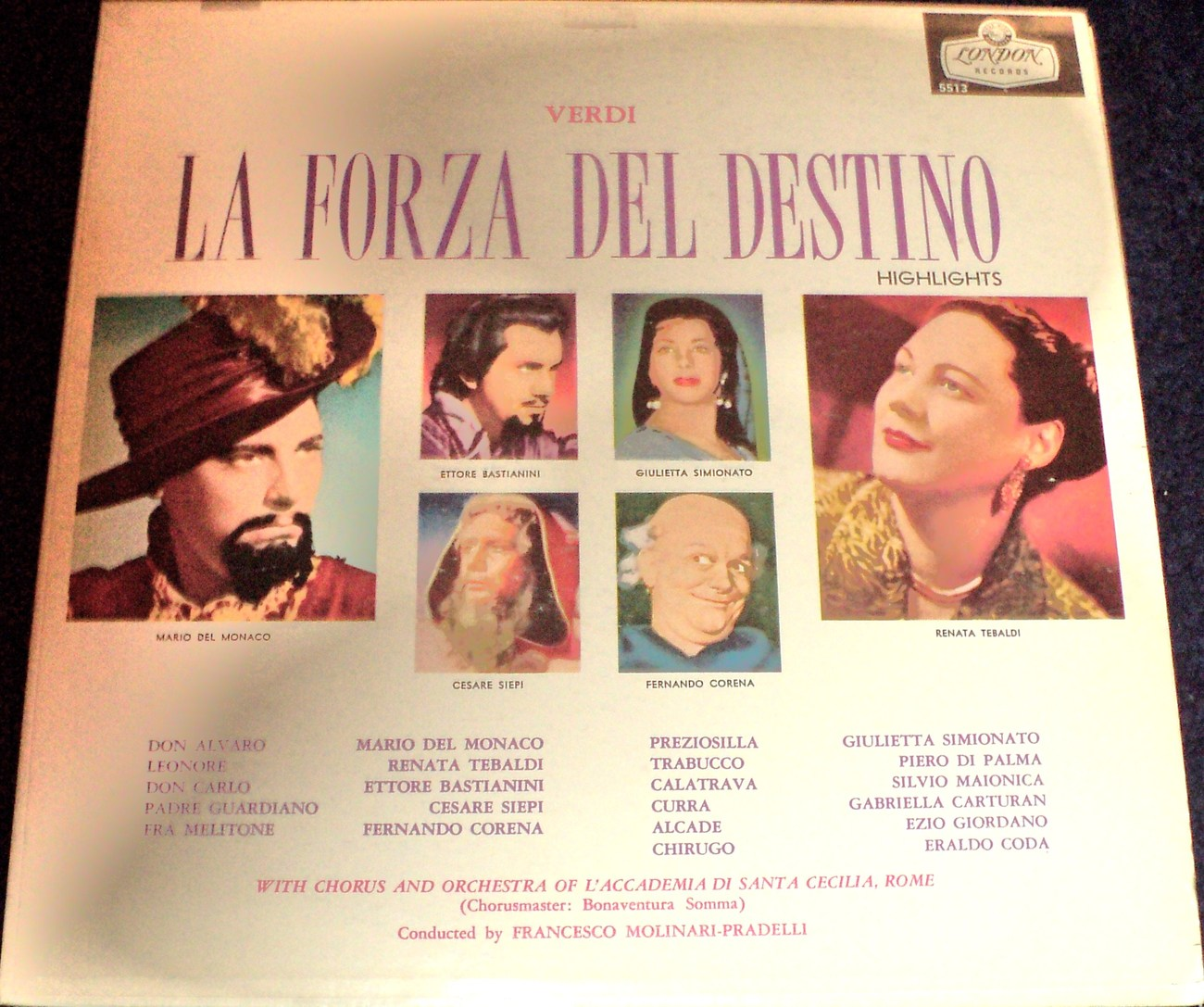 Primary image for VERDI: LA FORZA DEL DESTINO HIGHLIGHTS WITH CHORUS AND ORCHESTRA OF ACCADEMIA DI