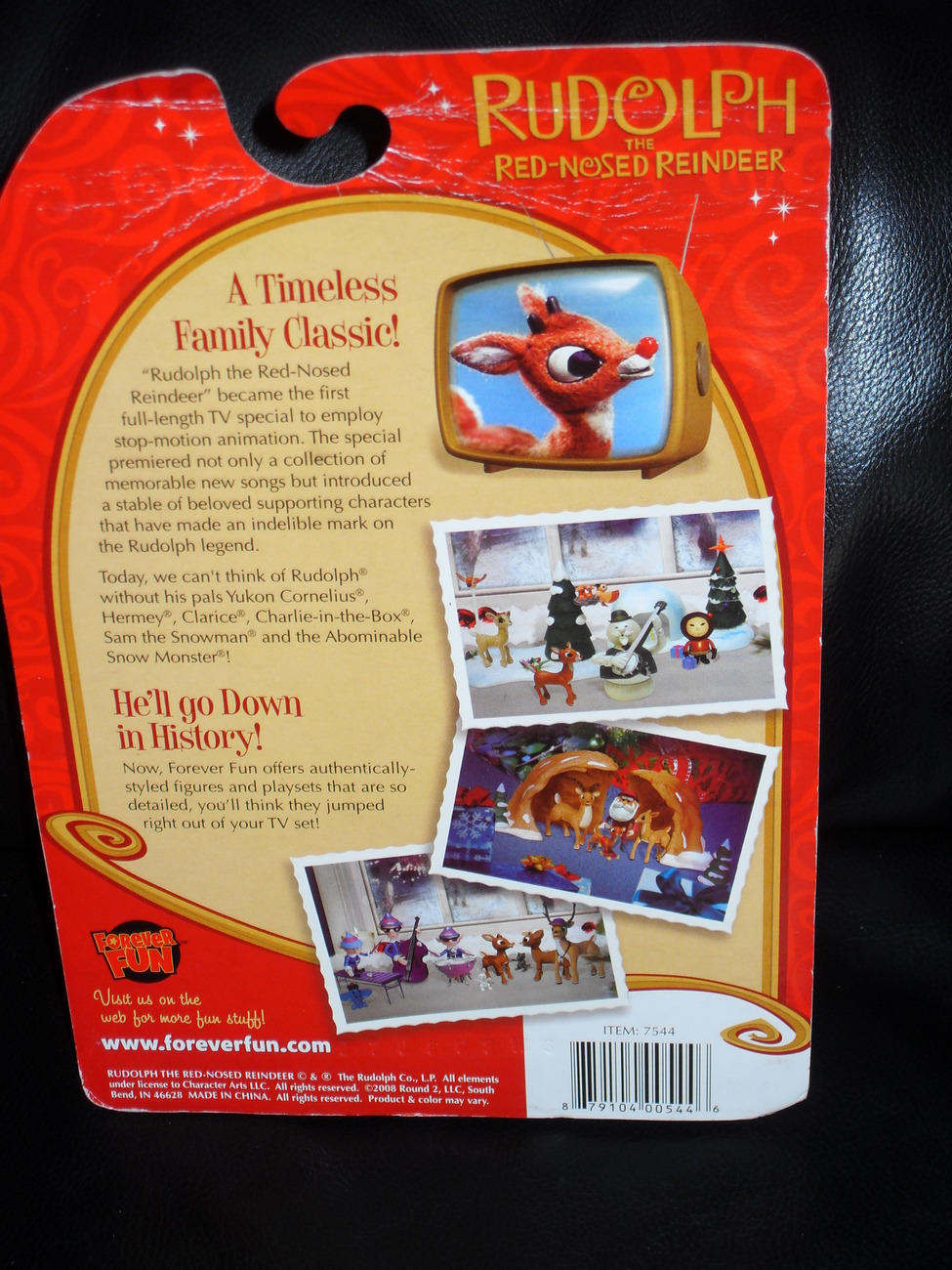 2008 Rudolph The Red Nosed Reindeer  Posable Holiday Figure NIP