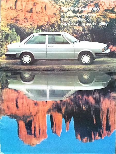 1980 Audi 4000 sales brochure catalog US 80 HUGE