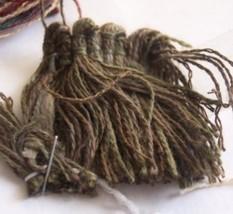 10 YDS Green/Brown Brush Fringe/Trim - $20.36