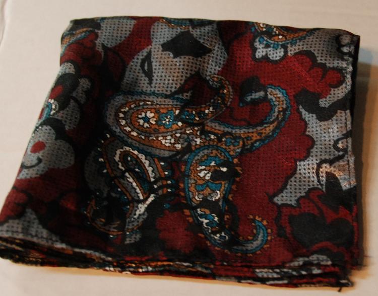 Mens Paisley Pocket Square Handkerchief