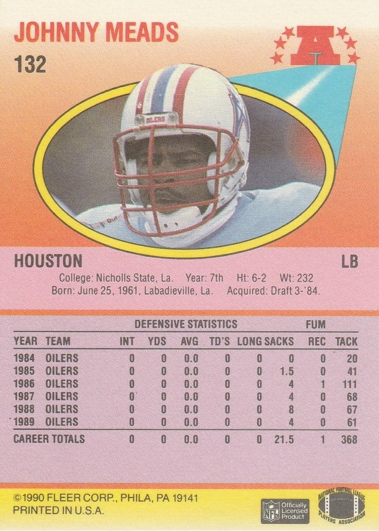 1990 Fleer #132 Johnny Meads