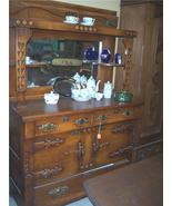 Early 1900's Oak Buffet/Hutch with Mirror - $1,200.00
