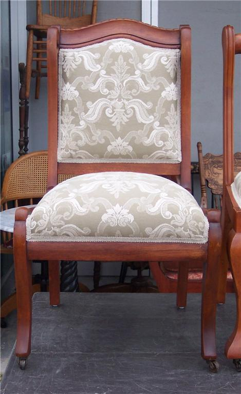 Cherry Sidechair/Parlor Chair-elegant cream print