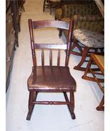 Solid Cherry Slab Seat Sewing Rocker or Granny Rocker - $249.00