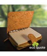 EcoQuote Notebook Deluxe Handmade Cork Eco Friendly Material For Vegan - $38.00