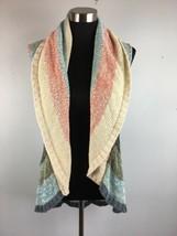 Cabi Sweater Vest 216 S Multi Color Line Up Shawl Boho Shrug Cardigan St... - $29.69