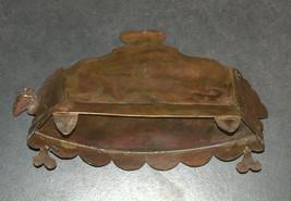 Judaica Oil Menorah Hanukkah Vintage Israel Silver Copper 7 Seven Species 1960's image 8