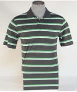Nike Golf Tour Performance Dri Fit Gray Stripe Short Sleeve Polo Shirt Mens NWT - $48.74