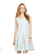 NWT WOMEN Lauren Ralph Lauren Saharan Sage Floral V-Neck Dress size 4 $210 - $47.02