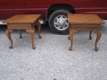 Pair of New Large Oak End Table/Side Table