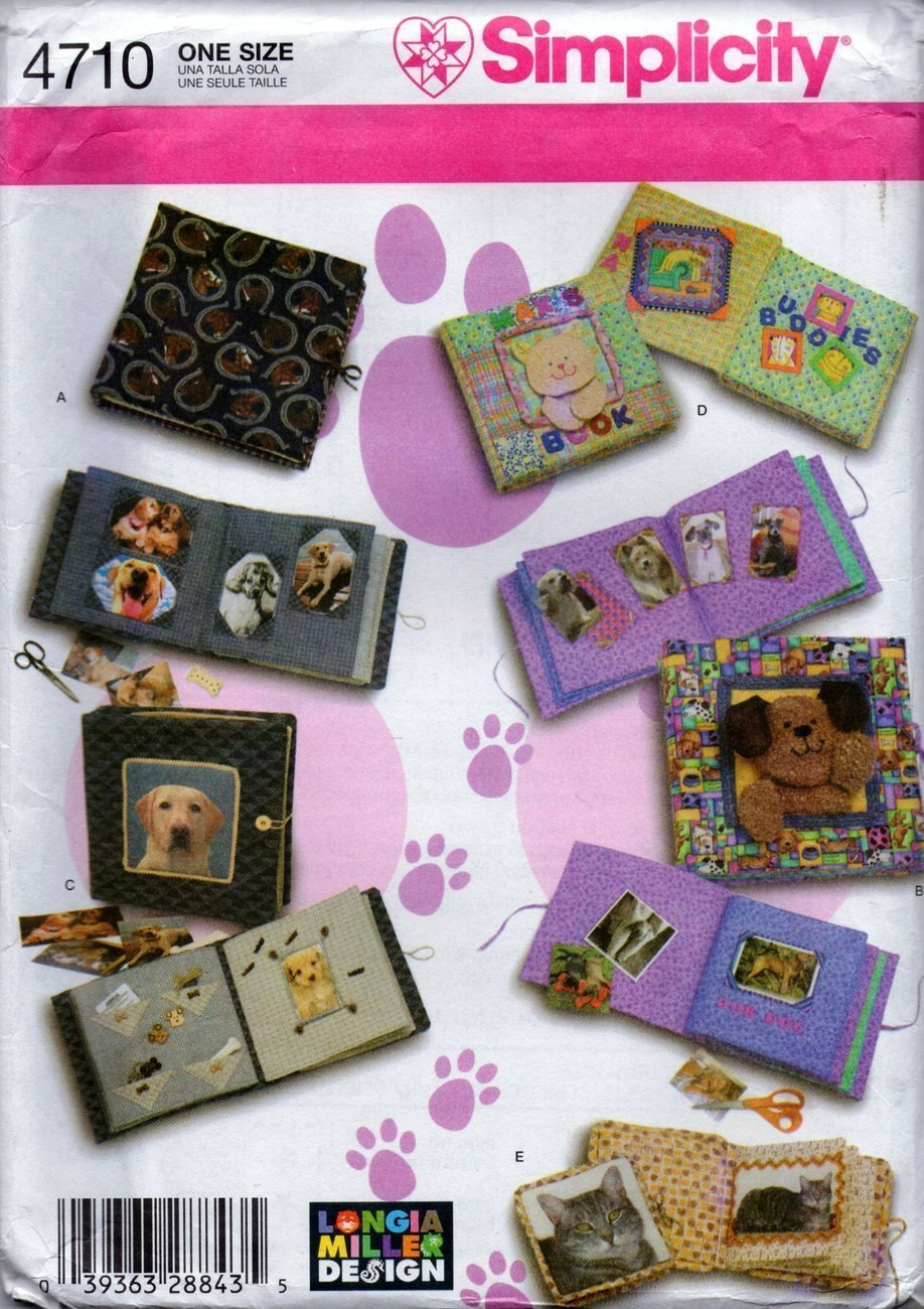 Simplicity Pattern 4710 - Pet Scrapbooks