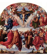 All Saints picture by Durer - 24x32 inch Canvas Wall Art Home Decor - $51.99
