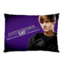 """BRAND NEW Justin Bieber Never Say Never 30""""X20"""" Full Size Pillowcase - $16.99"""