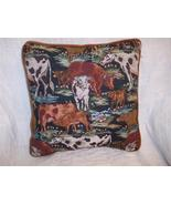 Cow Print Pillow-Brown Velvet Back 15 x 15 - $18.00