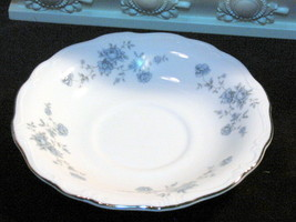 Blue Garland Johann Haviland China Saucer Vintage Germany Dinnerware 1970s - $3.99