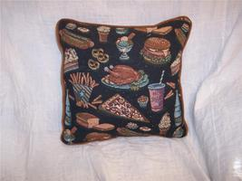 Food Themed Print Decorative Pillow 16 x 16 - $14.14