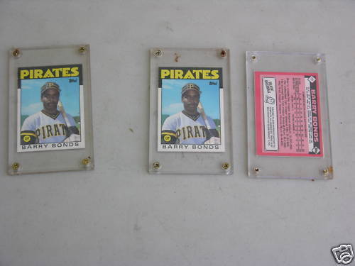 Primary image for BARRY BONDS ROOKIE CARD IN EXCELLENT UNGRADED CONDITION