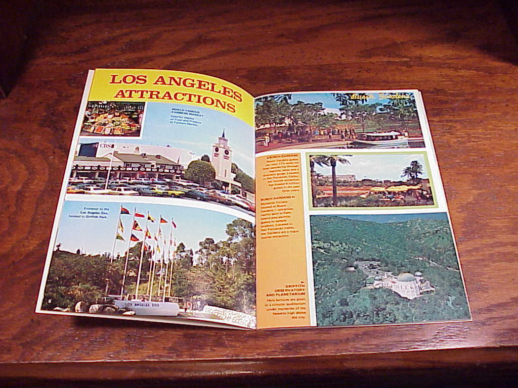 1970's Greater Los Angeles Souvenir Pictorial Booklet, 22 pages