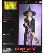 Child's Tie Dye Witch Halloween Costume Medium 5-7, NEW UNUSED - $6.89