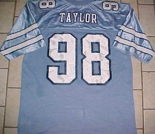 Lawrence Taylor #58 North Carolina Tar Heels NCAA ACC Blue Throwbacks Jersey XL
