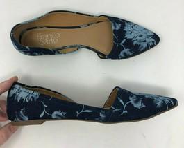 Franco Sarto D'Orsay Dress Shoes Women 6.5 Spiral Ballet Flat Floral A65 - $14.44