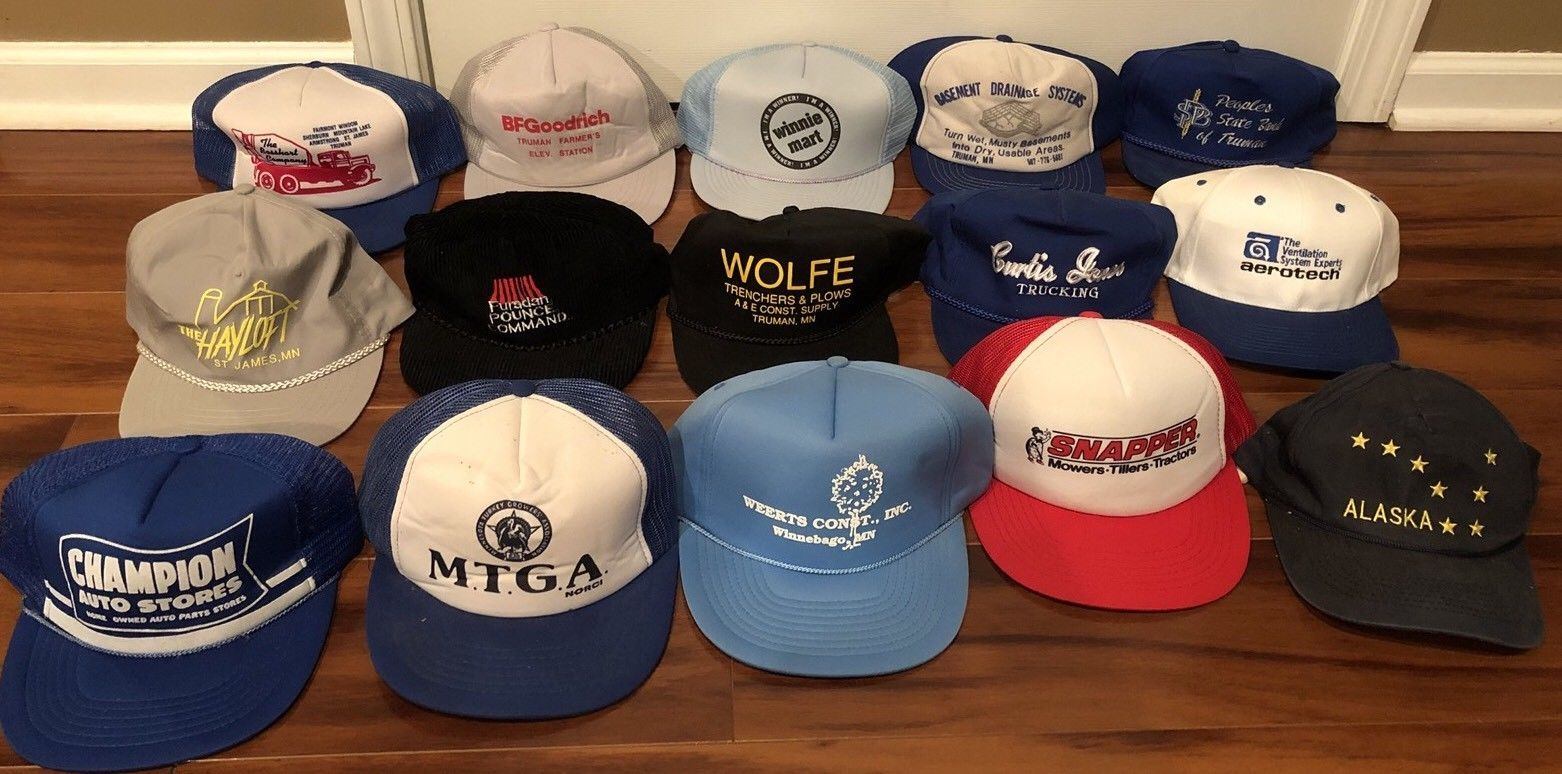 19a46e5b Vintage Lot of 15 70s 80s Hat Cap Snapbacks and 50 similar items