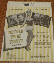 Vintage Sheet Music - You Do - 1947 Edition - VGC - from Mother Wore Tights - $5.93