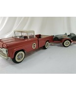 Vintage Nylint Ford Speedway Special Pick Up Truck and Trailer and Race Car - $460.35