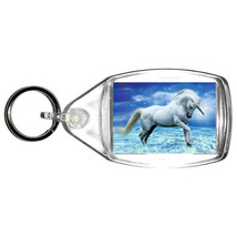 keyring double sided ,unicorn splashing keychain, bag clip. tag, unicorn