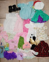 Lg Lot of Doll Clothes 100 Pieces for all Size Dolls Some Vintage,Some H... - $39.59