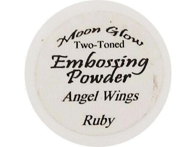 Moon Glow Two-Toned Embossing Powder Angel Wings Ruby